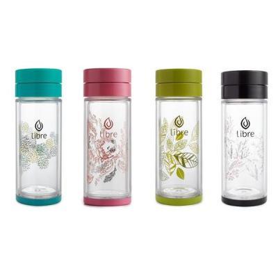 Набор из 4 цветных термокружек Libre (Бирюзовая, Розовая, Зеленая, Черная), 420 мл.