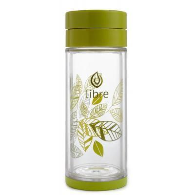 Термокружка Libre Tea, Lively Leaves (Зеленая) - 420 мл.